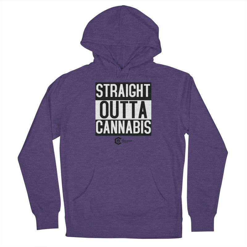 Straight Outta Cannabis Men's French Terry Pullover Hoody by The Medical Cannabis Community