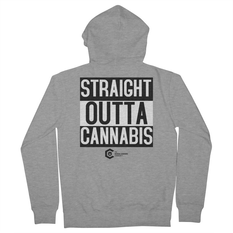 Straight Outta Cannabis Men's French Terry Zip-Up Hoody by The Medical Cannabis Community