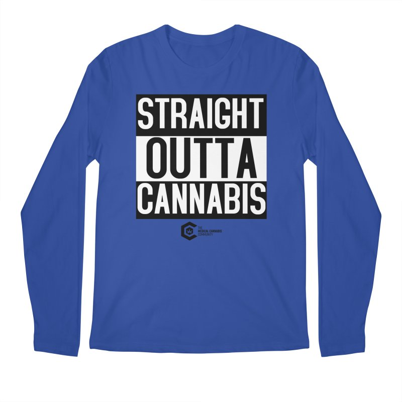 Straight Outta Cannabis Men's Regular Longsleeve T-Shirt by The Medical Cannabis Community