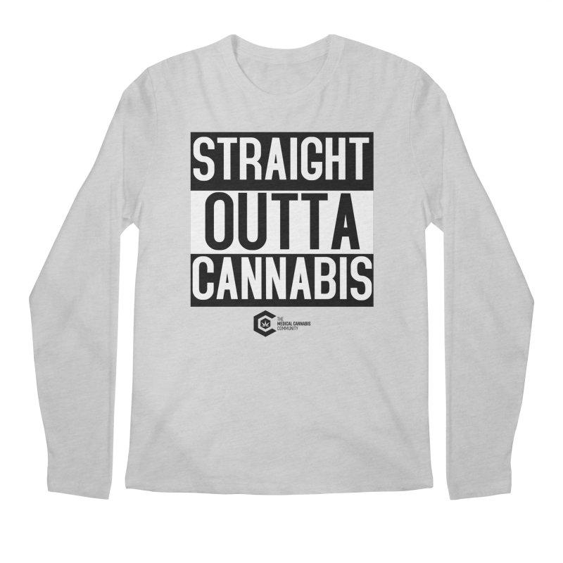 Straight Outta Cannabis Men's Regular Longsleeve T-Shirt by The Medical Cannabis Community