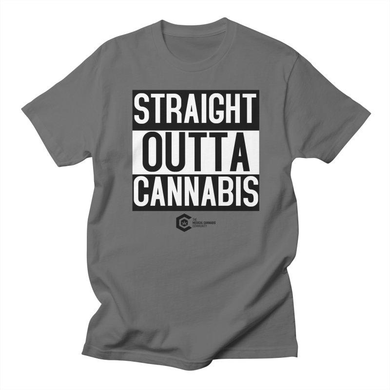 Straight Outta Cannabis Men's T-Shirt by The Medical Cannabis Community