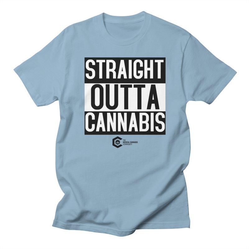 Straight Outta Cannabis Men's Regular T-Shirt by The Medical Cannabis Community