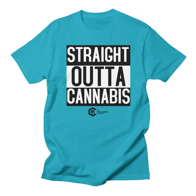 Straight Outta Cannabis Men's Regular T-Shirt by The Medical Cannabis Community