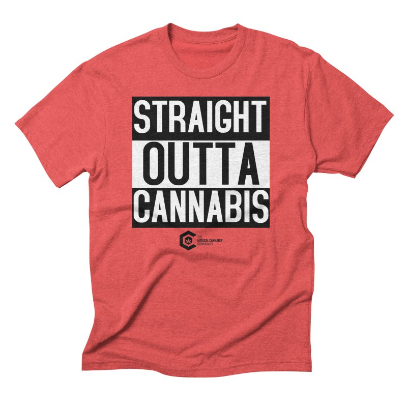 Straight Outta Cannabis Men's Triblend T-Shirt by The Medical Cannabis Community