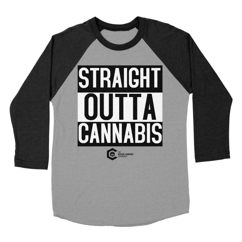 Straight Outta Cannabis Men's Baseball Triblend Longsleeve T-Shirt by The Medical Cannabis Community