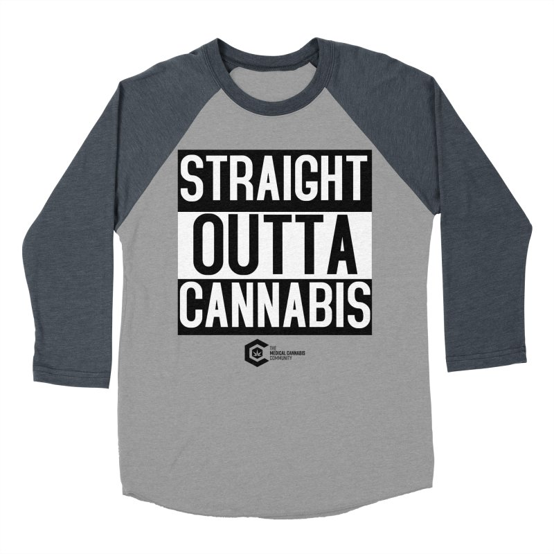 Straight Outta Cannabis Men's Baseball Triblend Longsleeve T-Shirt by The Medical Cannabis Community