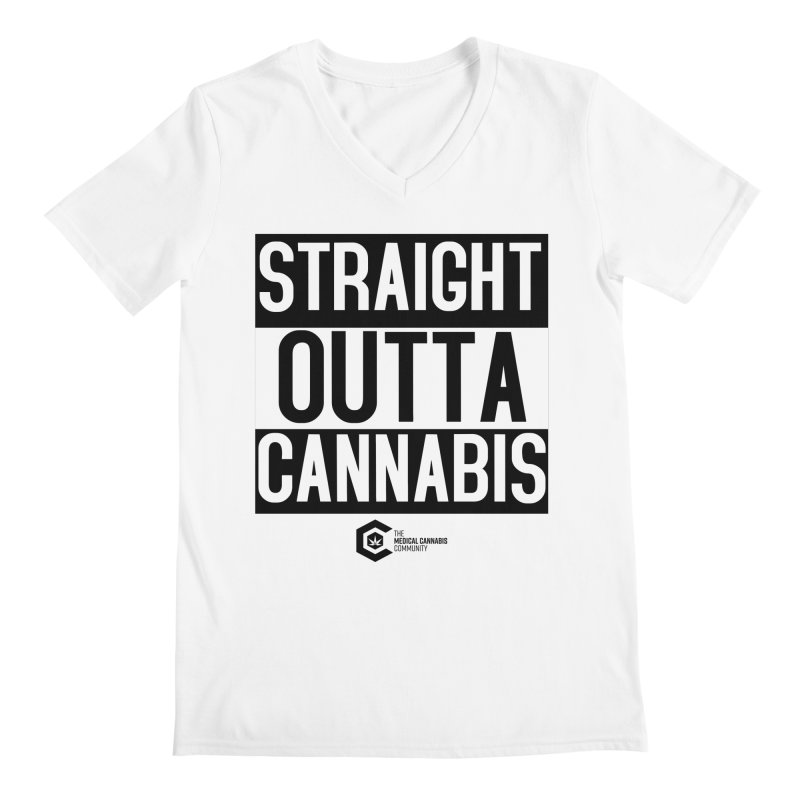 Straight Outta Cannabis Men's Regular V-Neck by The Medical Cannabis Community