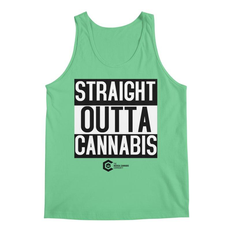Straight Outta Cannabis Men's Regular Tank by The Medical Cannabis Community