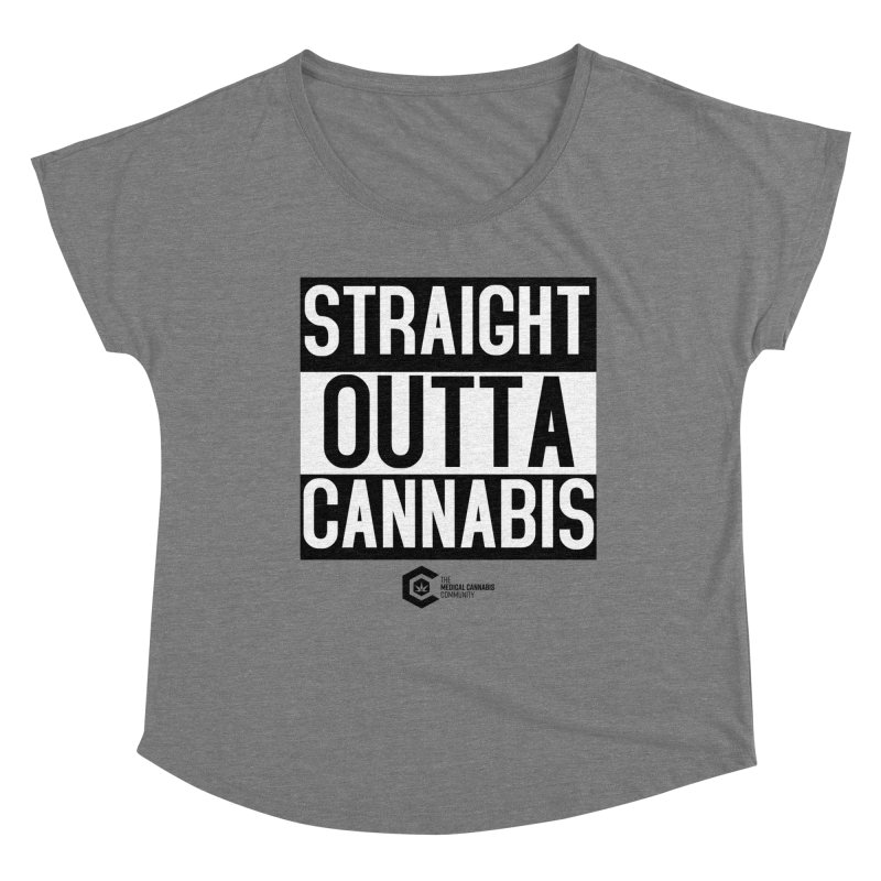 Straight Outta Cannabis Women's Scoop Neck by The Medical Cannabis Community