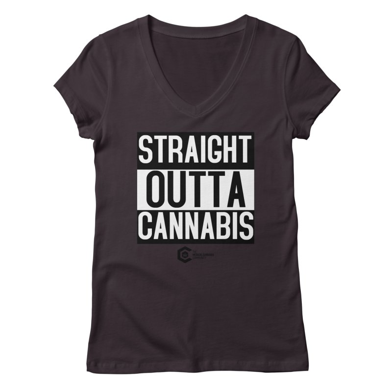 Straight Outta Cannabis Women's Regular V-Neck by The Medical Cannabis Community