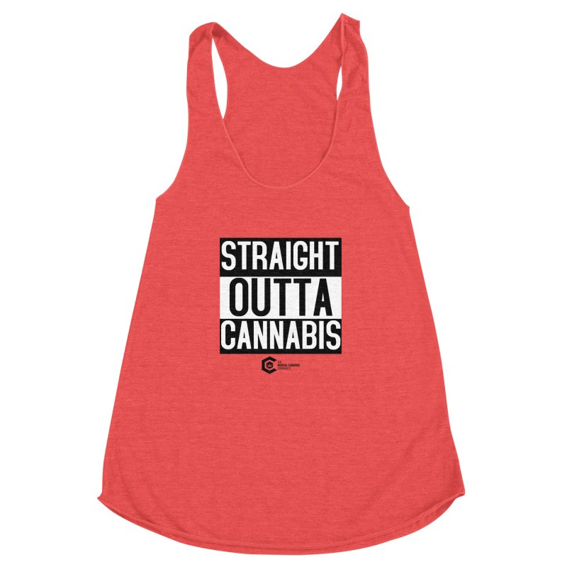 Straight Outta Cannabis Women's Racerback Triblend Tank by The Medical Cannabis Community