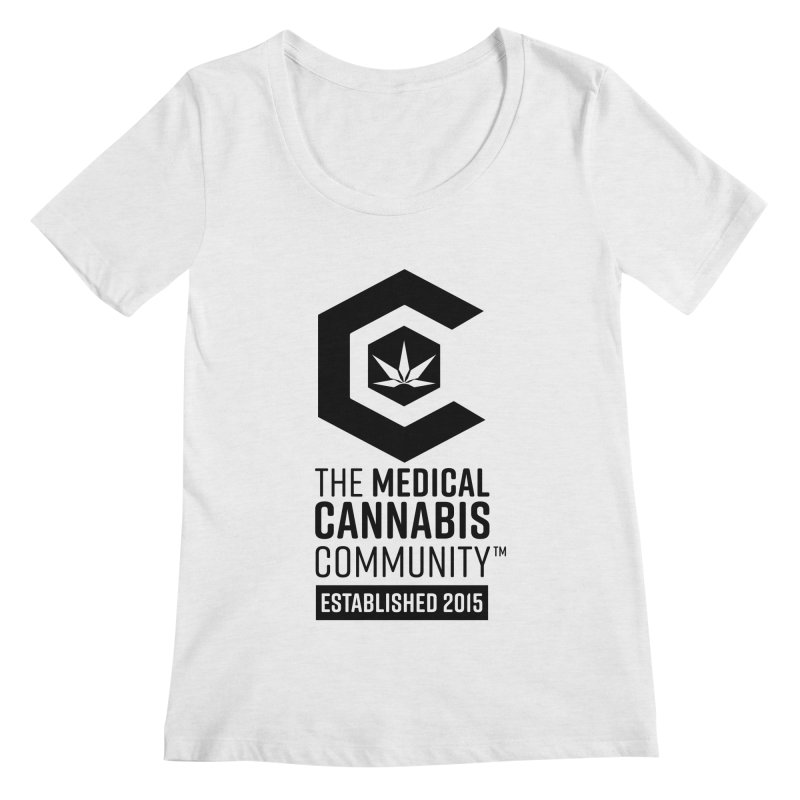 The Medical Cannabis Community Women's Regular Scoop Neck by The Medical Cannabis Community