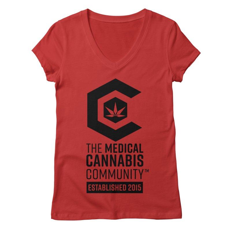 The Medical Cannabis Community Women's Regular V-Neck by The Medical Cannabis Community