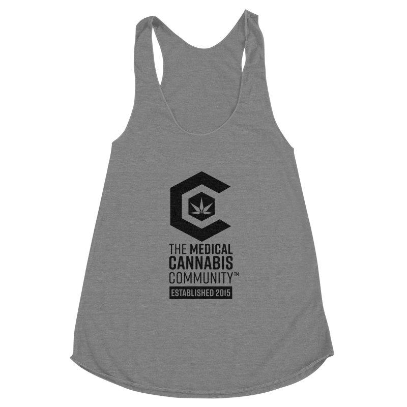 The Medical Cannabis Community Women's Racerback Triblend Tank by The Medical Cannabis Community