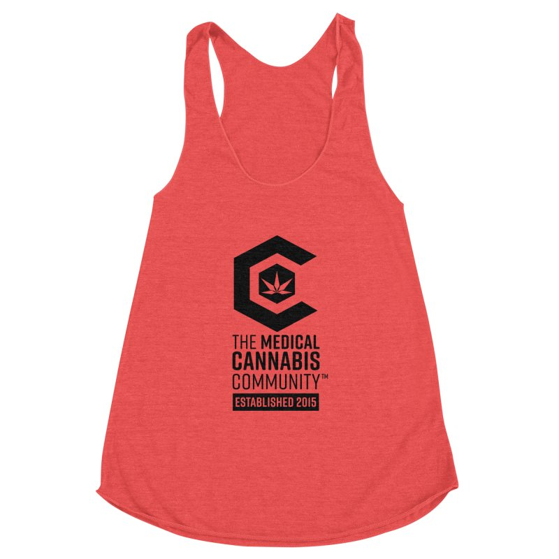 The Medical Cannabis Community Women's Racerback Triblend Tank by The Medical Cannabis Community
