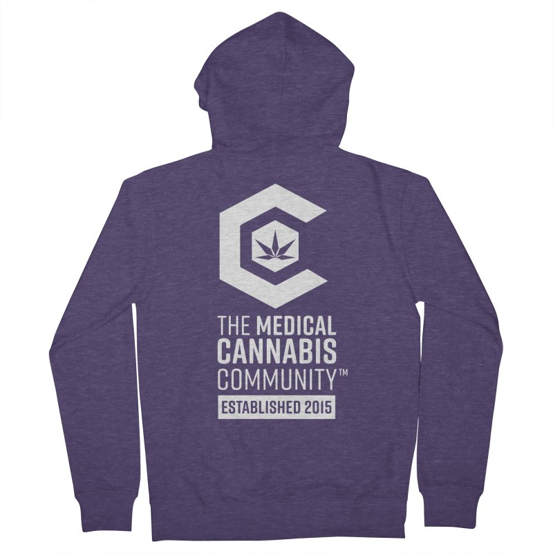 The Medical Cannabis Community Men's French Terry Zip-Up Hoody by The Medical Cannabis Community
