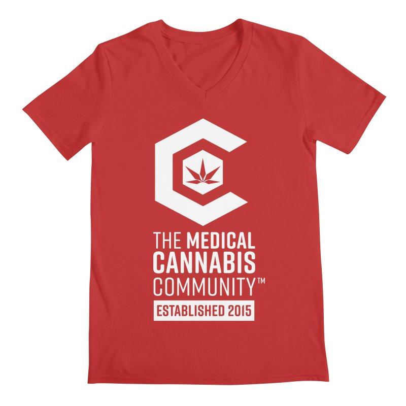 The Medical Cannabis Community Men's Regular V-Neck by The Medical Cannabis Community