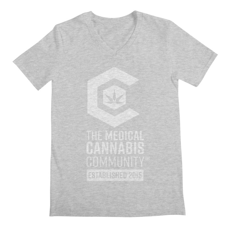 The Medical Cannabis Community Men's Regular V-Neck by The Medical Cannabis Community