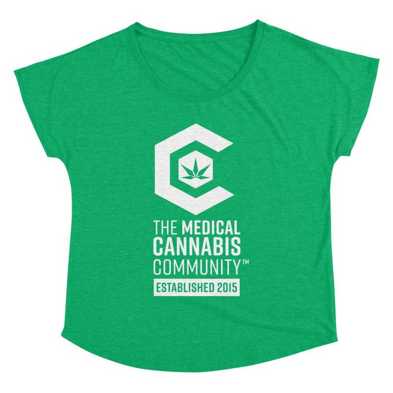 The Medical Cannabis Community Women's Dolman Scoop Neck by The Medical Cannabis Community