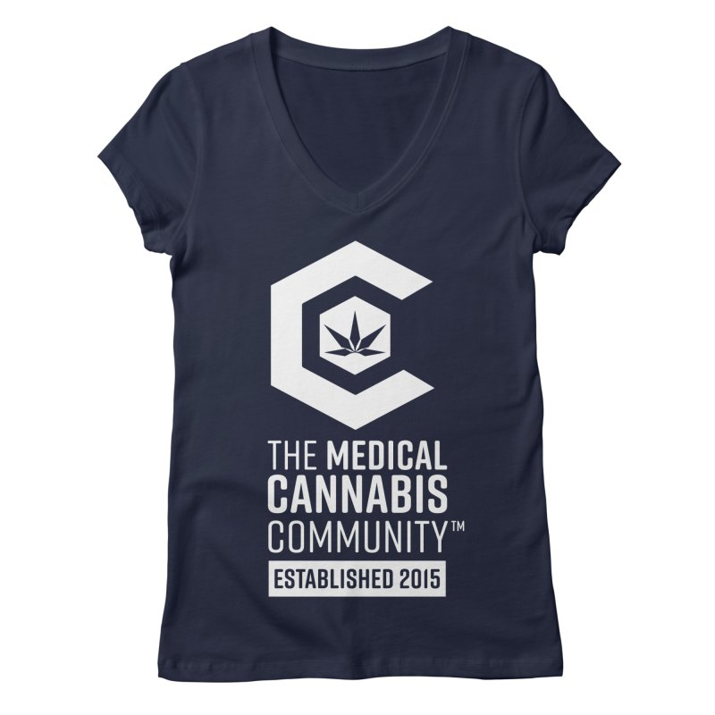 The Medical Cannabis Community Women's Regular V-Neck by The Medical Cannabis Community