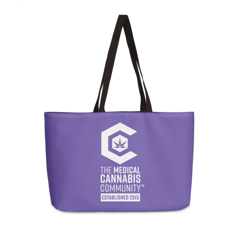 The Medical Cannabis Community Accessories Weekender Bag Bag by The Medical Cannabis Community