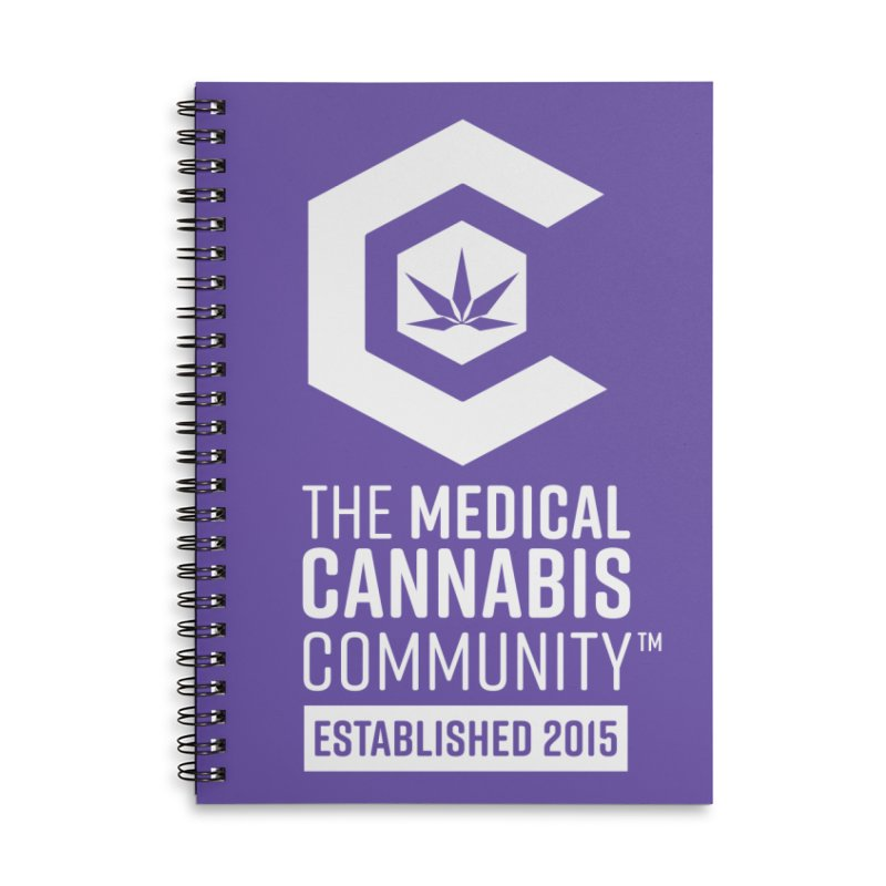 The Medical Cannabis Community Accessories Lined Spiral Notebook by The Medical Cannabis Community