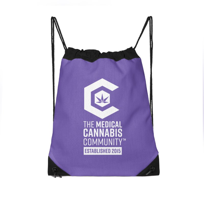 The Medical Cannabis Community Accessories Drawstring Bag Bag by The Medical Cannabis Community