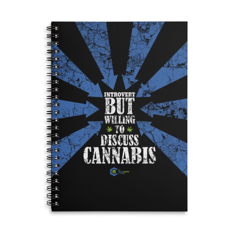 Introvert BUT WILLING to discuss cannabis Accessories Lined Spiral Notebook by The Medical Cannabis Community