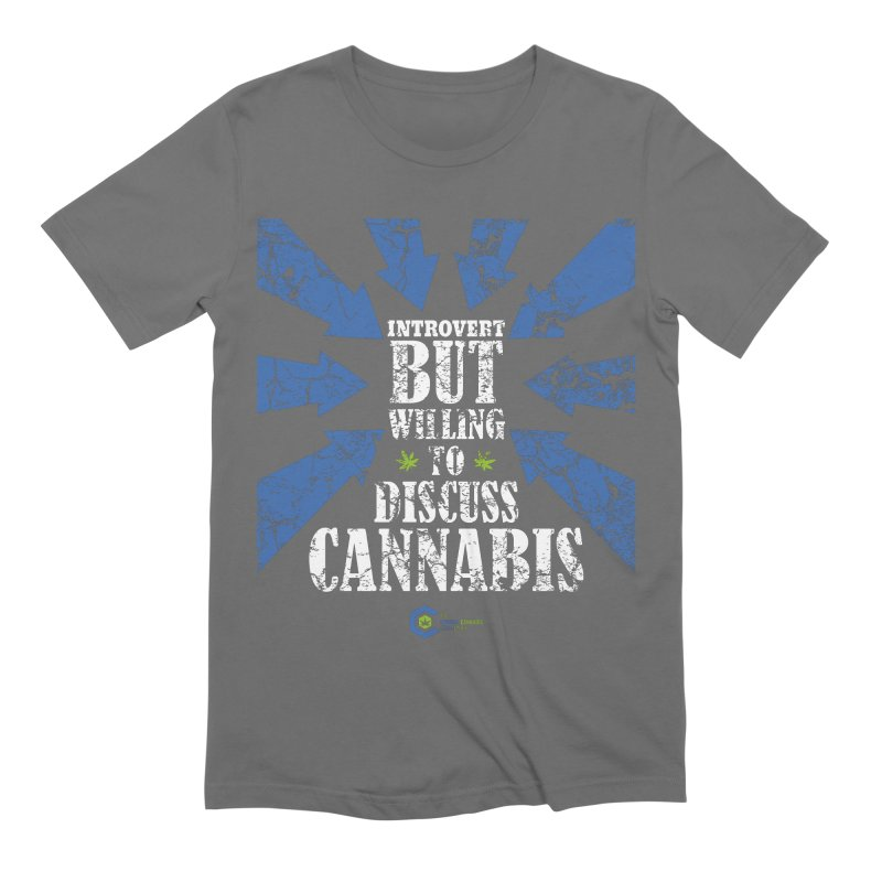 Introvert BUT WILLING to discuss cannabis Men's T-Shirt by The Medical Cannabis Community