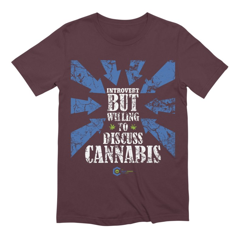 Introvert BUT WILLING to discuss cannabis Men's Extra Soft T-Shirt by The Medical Cannabis Community