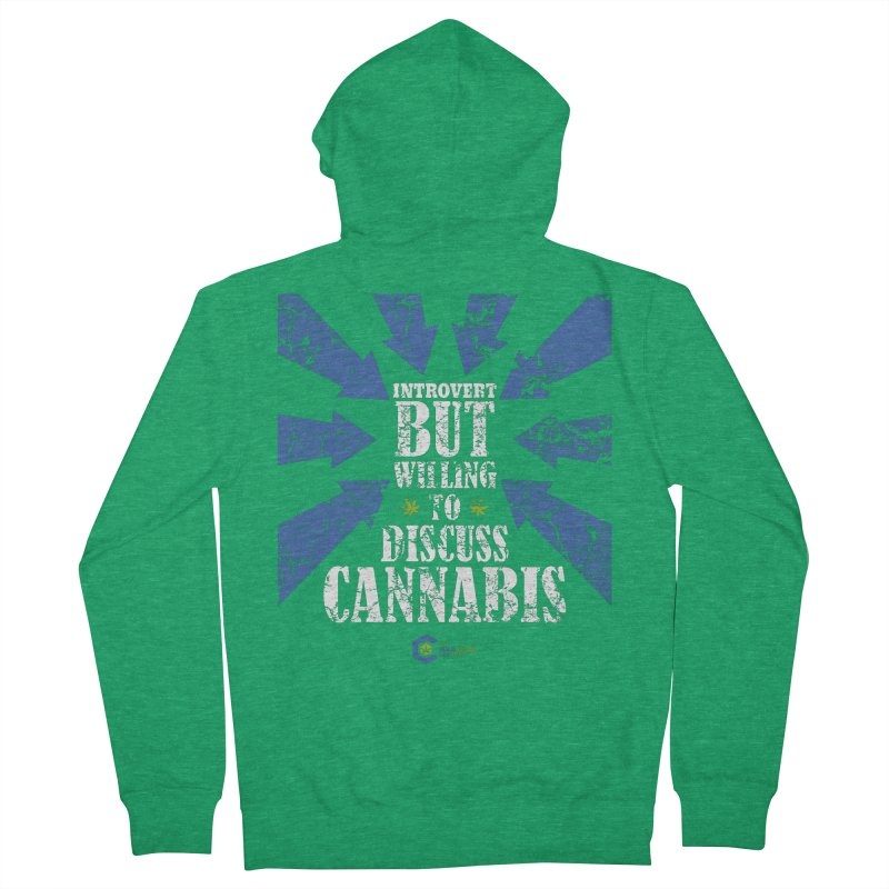 Introvert BUT WILLING to discuss cannabis Men's Zip-Up Hoody by The Medical Cannabis Community