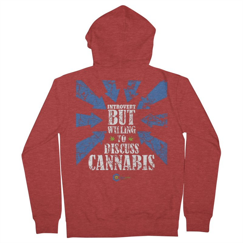 Introvert BUT WILLING to discuss cannabis Men's French Terry Zip-Up Hoody by The Medical Cannabis Community