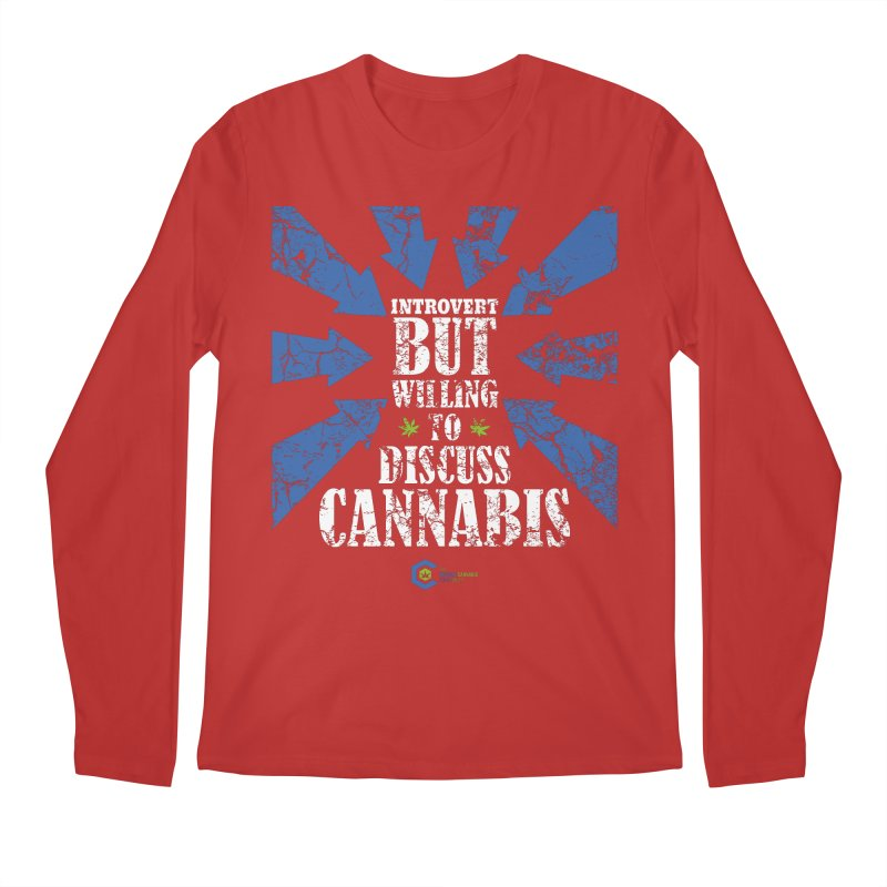 Introvert BUT WILLING to discuss cannabis Men's Regular Longsleeve T-Shirt by The Medical Cannabis Community
