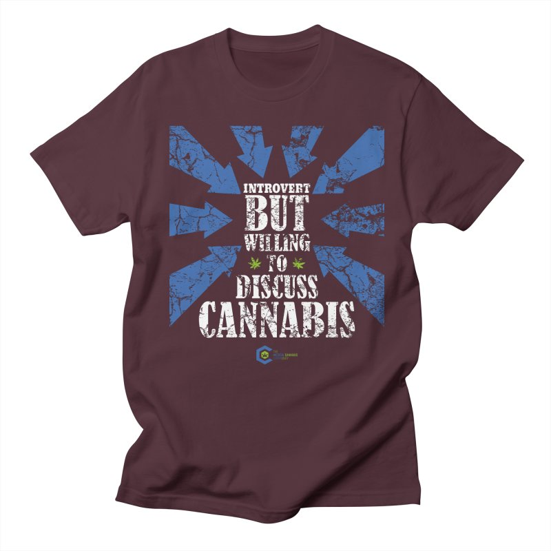 Introvert BUT WILLING to discuss cannabis Men's Regular T-Shirt by The Medical Cannabis Community