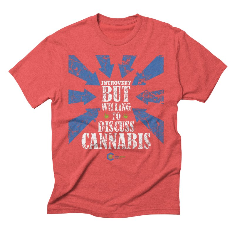 Introvert BUT WILLING to discuss cannabis Men's Triblend T-Shirt by The Medical Cannabis Community