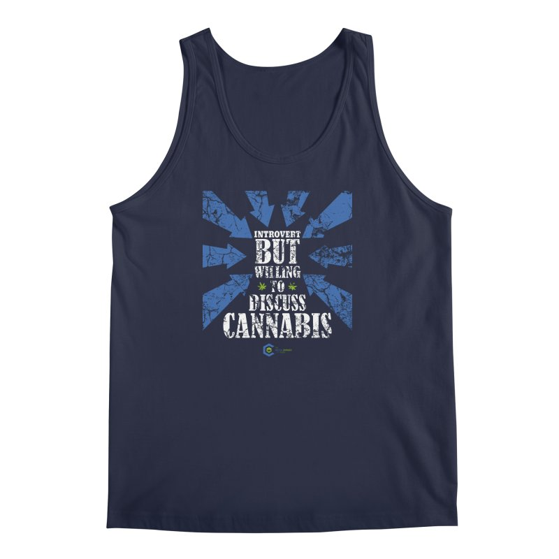 Introvert BUT WILLING to discuss cannabis Men's Regular Tank by The Medical Cannabis Community