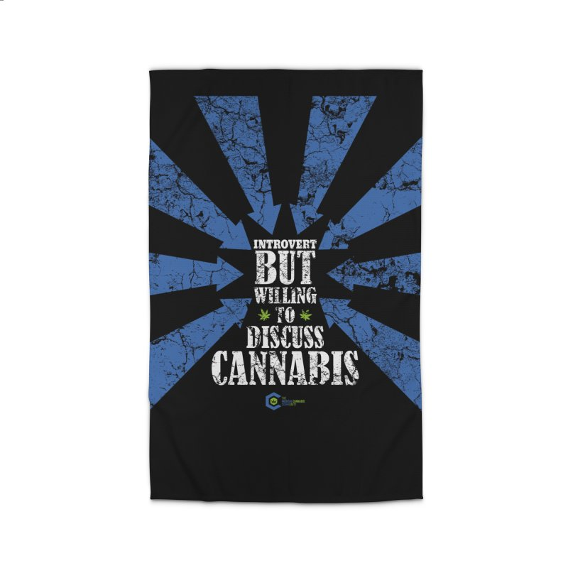 Introvert BUT WILLING to discuss cannabis Home Rug by The Medical Cannabis Community