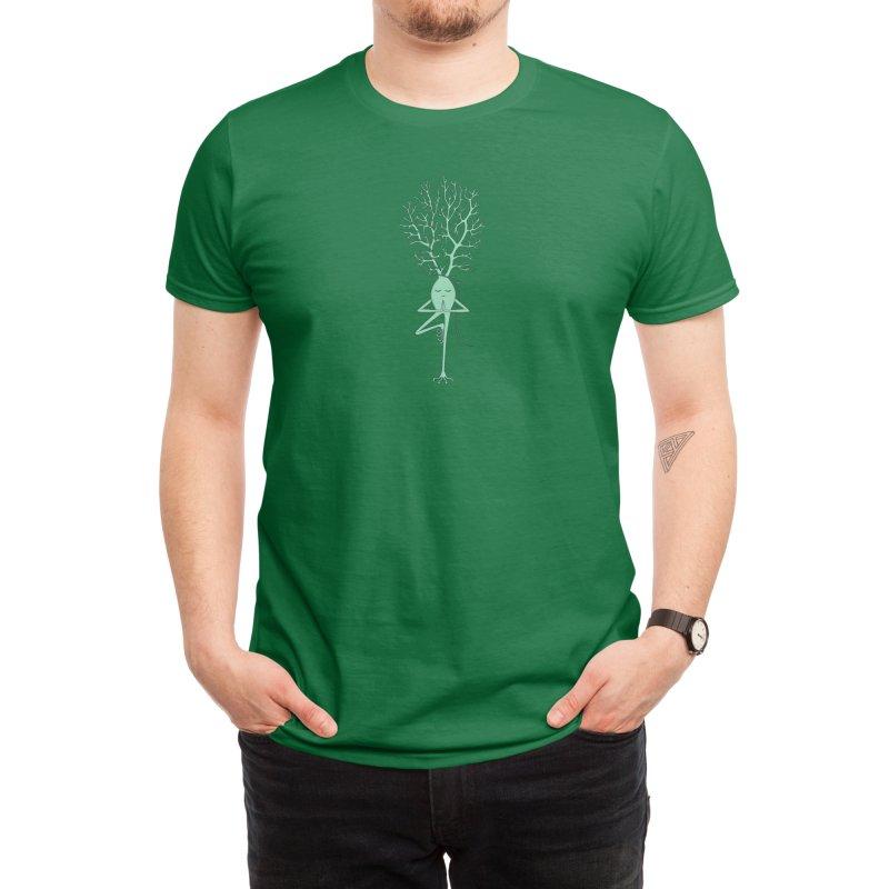 Yoga Neuron Men's T-Shirt by The Neuron Family