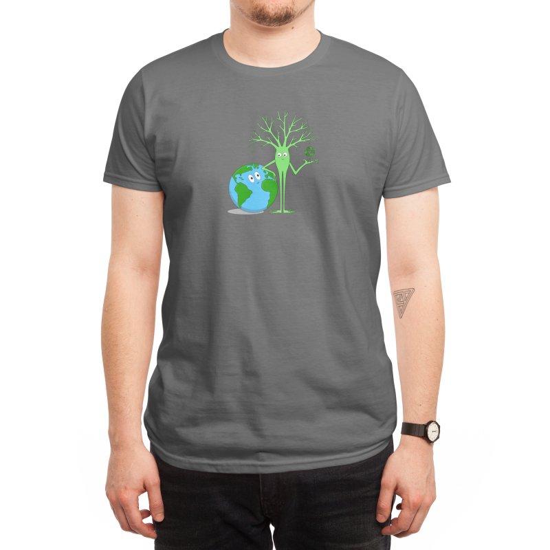 Green Neuron Men's T-Shirt by The Neuron Family