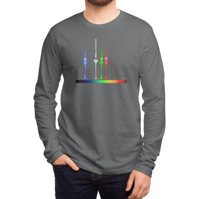 Rod and Cones Men's Longsleeve T-Shirt by The Neuron Family