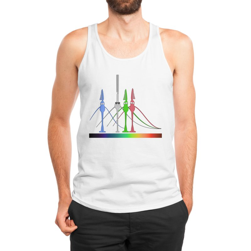 Rod and Cones Men's Tank by The Neuron Family