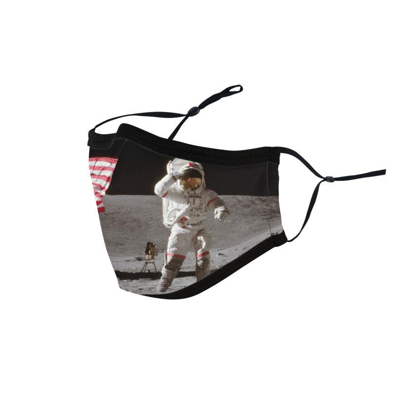 Glick-man on the Moon Accessories Face Mask by The Night Time Show Shop
