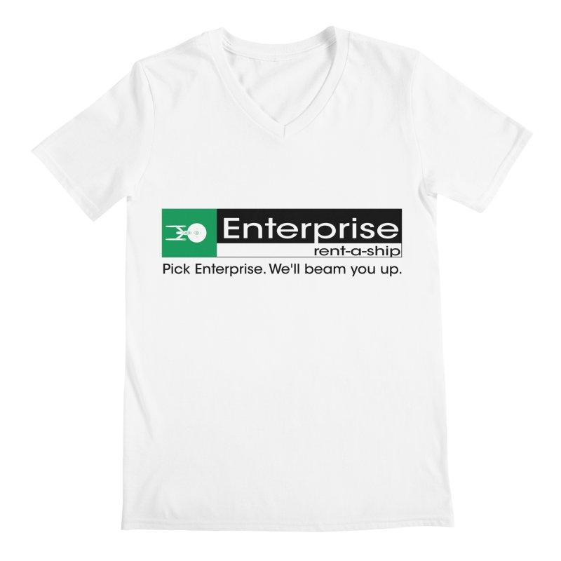 Enterprise Rent-a-Ship Men's V-Neck by The Night Time Show Shop