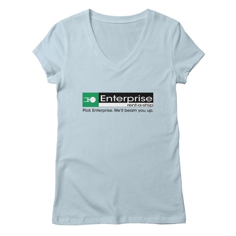 Enterprise Rent-a-Ship Women's V-Neck by The Night Time Show Shop
