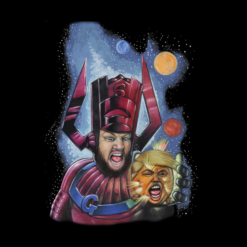 Galactus Destroys Planet Trump Men's Zip-Up Hoody by The Night Time Show Shop