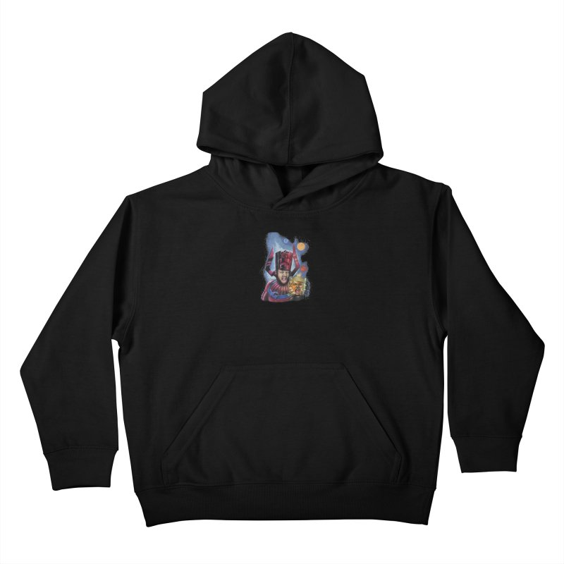 Galactus Destroys Planet Trump Kids Pullover Hoody by The Night Time Show Shop
