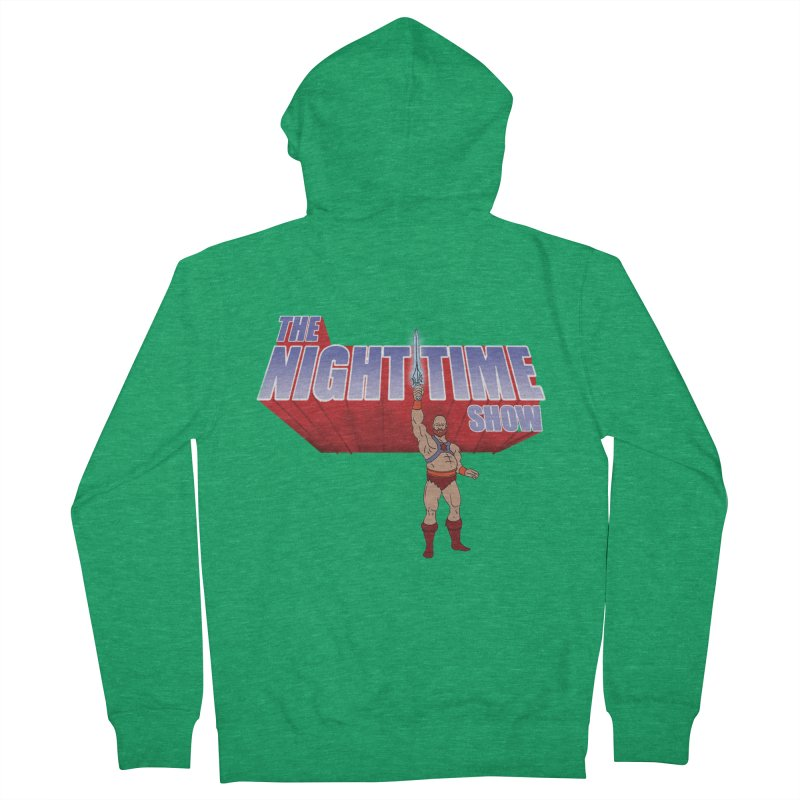 The Night Time Show and the Baddasses of the Universe! Men's Zip-Up Hoody by The Night Time Show Shop