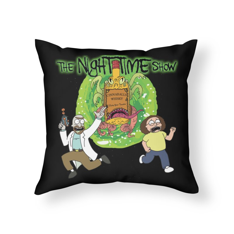 Portal Jumping Bastards! Home Throw Pillow by The Night Time Show Shop