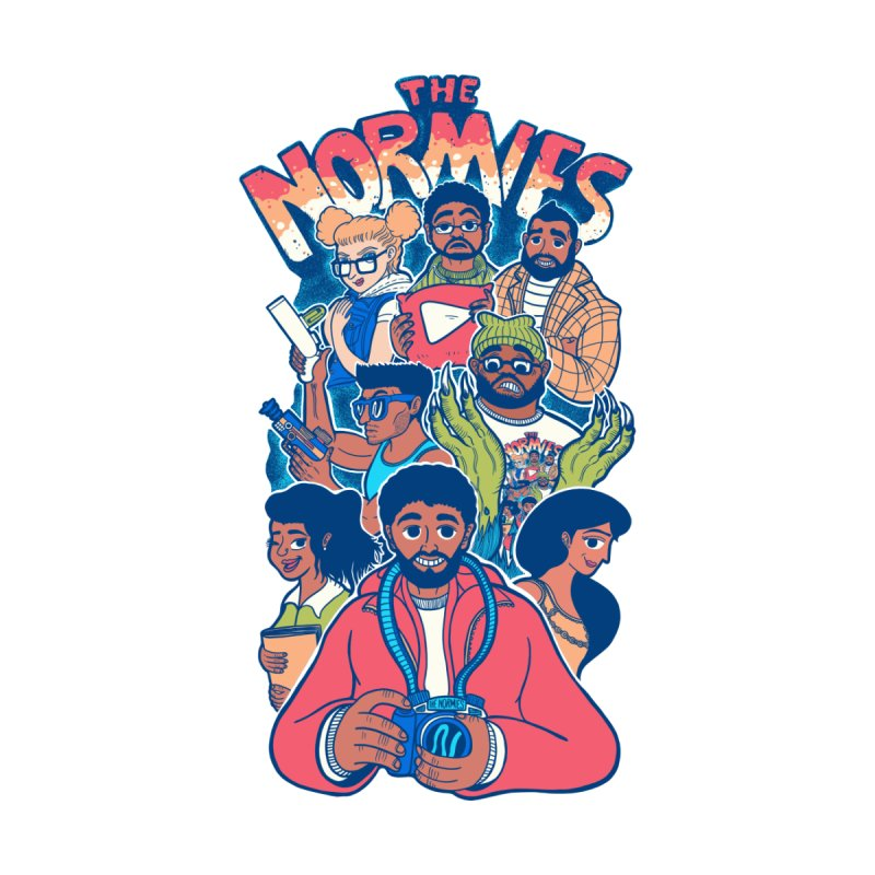 The Normies Crew Home Mounted Aluminum Print by The Normie's Merch Shop