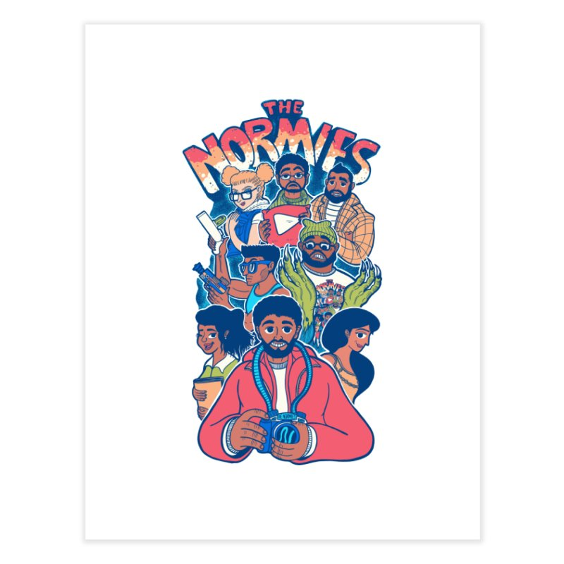 The Normies Crew Home Fine Art Print by The Normie's Merch Shop